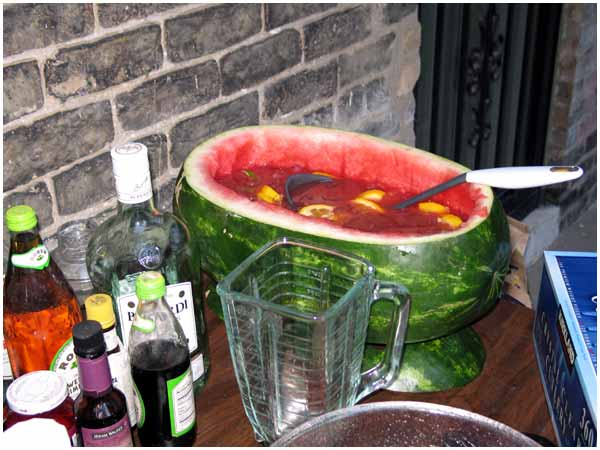 this was my big idea carving out a watermelon for use as a punchbowl i ...