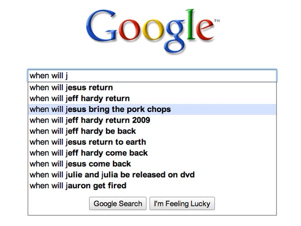 Image result for google autofill jesus bring back