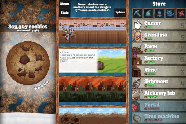 Cookie Clicker: Addictive Game Involving Cookies, Alchemy
