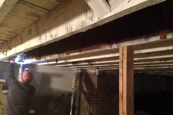 Adding Support To A Floor Joist In The Basement Avoision