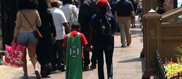 A Kid and His Green Lantern Cape – Why?