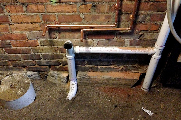 Picture of house plumbing