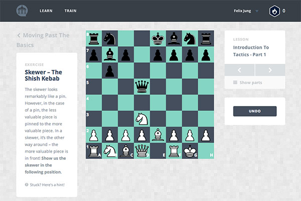 Chesscademy: Free Online Chess Lessons, Modeled After