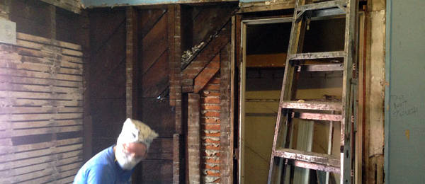 Demo Saturday: Clearing the Walls in the Master Bedroom