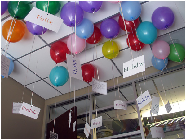 Awesome Birthday Surprise My Office Filled With Balloons