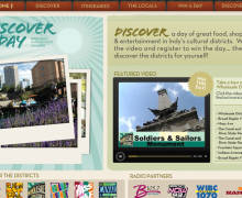 Discover a Day: Promotional Site for Indianapolis Districts