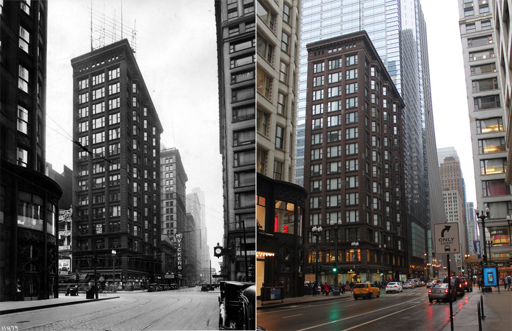 Then And Now Chicago Savings Bank Building In 1904 And