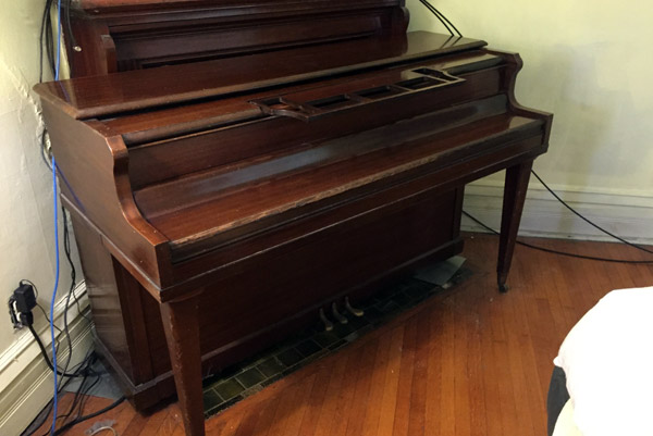 Our old piano in a new home for Classic house piano