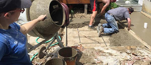 Cement Pour in Cedar Lake