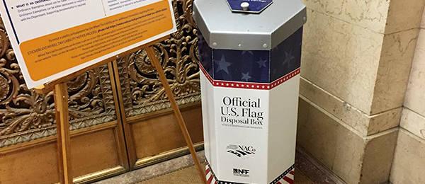 An Official US Flag Disposal Box